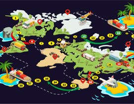 #42 para Illustrate a mobile game map por nk343652