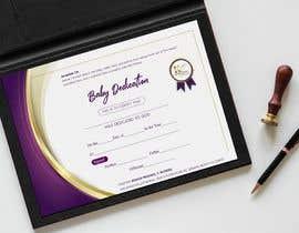 #8 para Baby Dedication Certificate por studiozeed