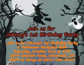 Nro 81 kilpailuun Quick Invitation Design, Halloween Birthday käyttäjältä zarinwaishi