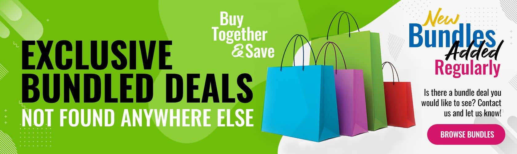 Konkurrenceindlæg #                                        47                                      for                                         Need Bundle Deals Banners for Website