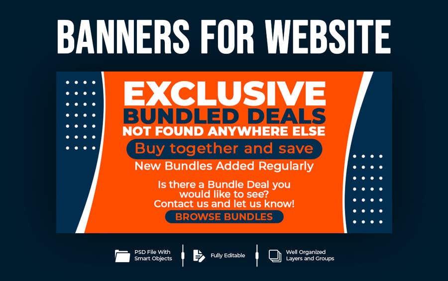 Konkurrenceindlæg #                                        54                                      for                                         Need Bundle Deals Banners for Website