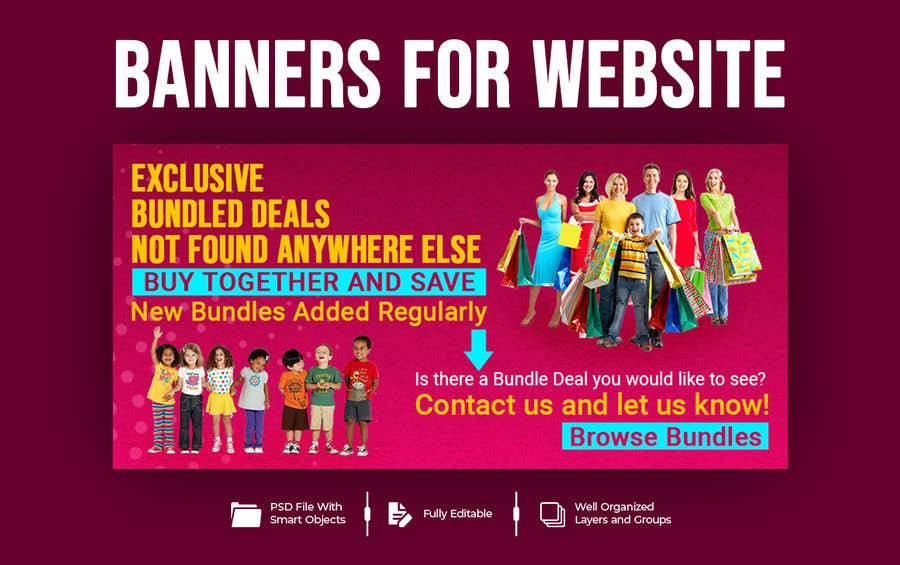 Konkurrenceindlæg #                                        57                                      for                                         Need Bundle Deals Banners for Website