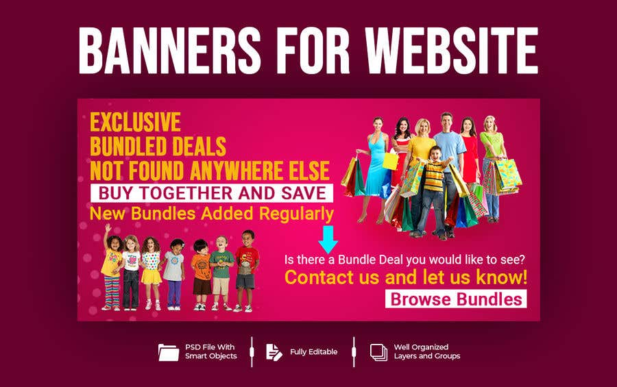 Konkurrenceindlæg #                                        58                                      for                                         Need Bundle Deals Banners for Website