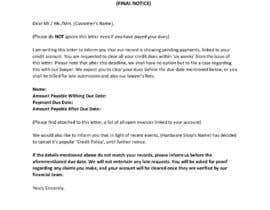#24 cho Letter for monies owed bởi SyedSaaidRizvi