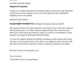 #10 cho Letter for monies owed bởi hafsahkhan04
