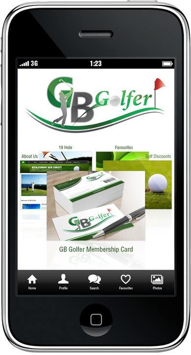 #6 for App Skin Design For GB Golfer by gerardway