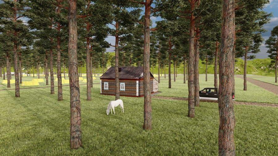 Kilpailutyö #                                        9                                      kilpailussa                                         Build a 3D rendering layout of a campground