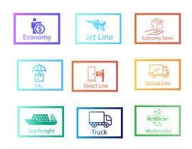 #92 untuk Group of shipping type icon oleh aliashraf2p