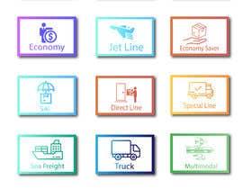 #94 untuk Group of shipping type icon oleh aliashraf2p