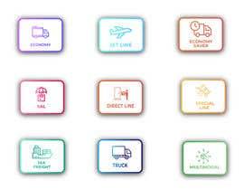 #98 untuk Group of shipping type icon oleh aliashraf2p