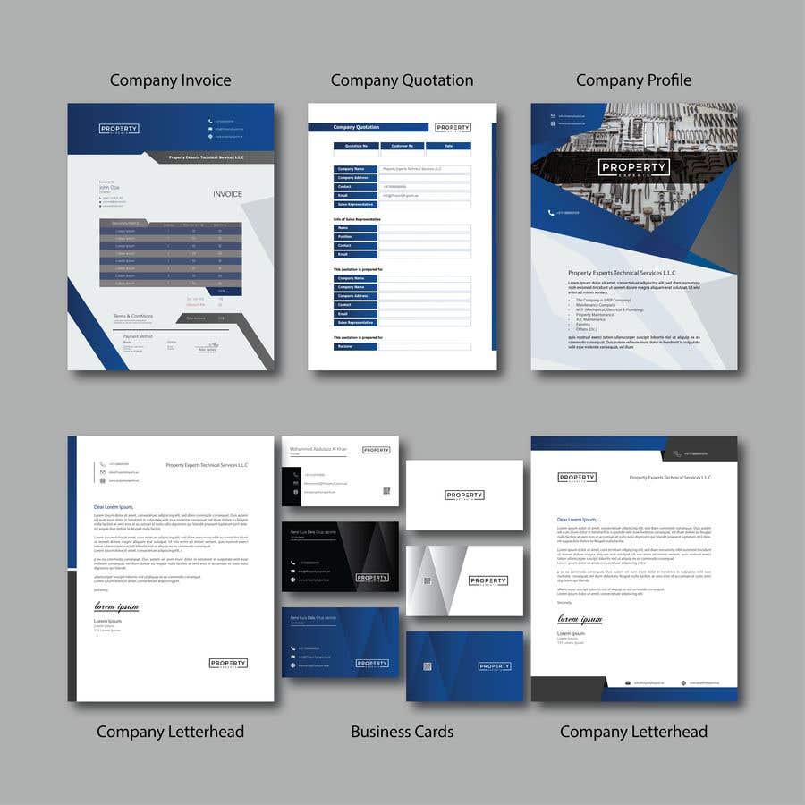 Penyertaan Peraduan #                                        83                                      untuk                                         Company Business Card, Profile, Letterhead, Quotation & Invoice Design