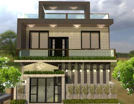 #15 for G+1 Building Front Elevation by redaharif