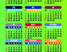 Nro 57 kilpailuun calendar design käyttäjältä hridoy201418