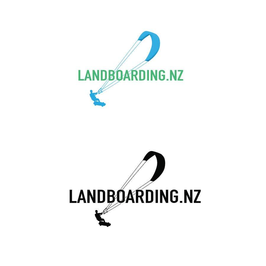 Penyertaan Peraduan #                                        15                                      untuk                                         Logo design for Kite Landboarding, e.g. Kitesurfing, mountainboarding