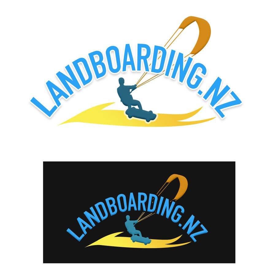 Konkurrenceindlæg #                                        65                                      for                                         Logo design for Kite Landboarding, e.g. Kitesurfing, mountainboarding