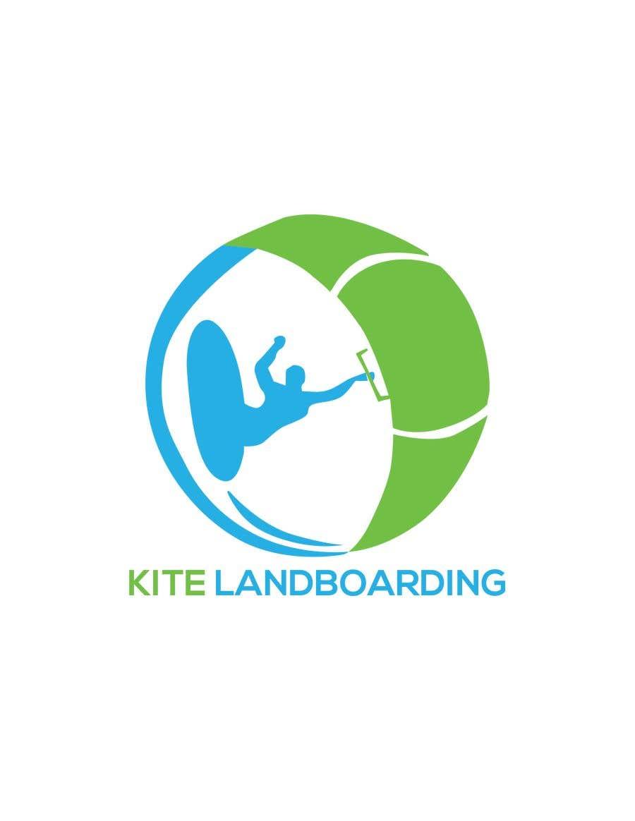 Konkurrenceindlæg #                                        1                                      for                                         Logo design for Kite Landboarding, e.g. Kitesurfing, mountainboarding
