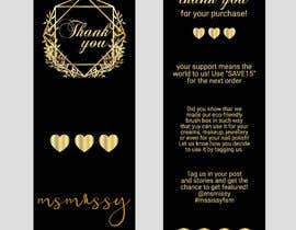 #67 for I need to create an insert/thank you card by graphicmist20