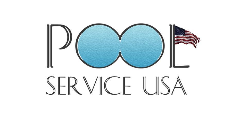 Konkurrenceindlæg #                                        2                                      for                                         Pool Service USA Logo