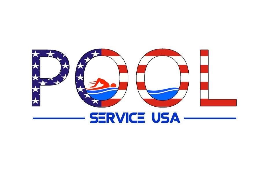 Konkurrenceindlæg #                                        21                                      for                                         Pool Service USA Logo
