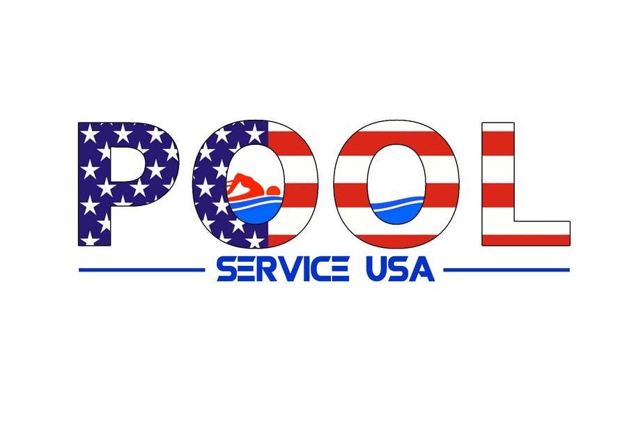 Konkurrenceindlæg #                                        23                                      for                                         Pool Service USA Logo