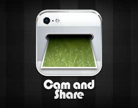 #41 untuk Icon or Button Design for a photo sharing app oleh KinanRod