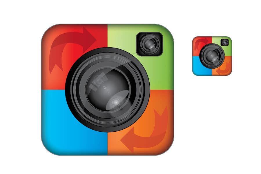 Konkurrenceindlæg #                                        60                                      for                                         Icon or Button Design for a photo sharing app