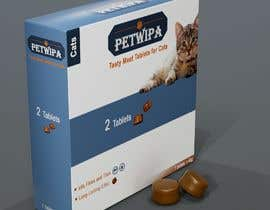 #19 untuk Design concept and 3D renders for a box containing 2 tablets against fleas and ticks for cats oleh ferdousshimu