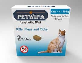 #15 untuk Design concept and 3D renders for a box containing 2 tablets against fleas and ticks for cats oleh siva3dworks