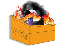 #10 for Dumpster Fire Icon by NoorjahanNadira