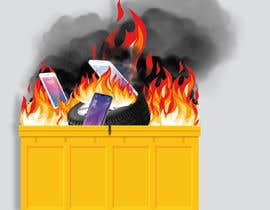 #24 for Dumpster Fire Icon by NoorjahanNadira