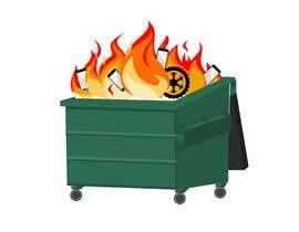 #36 for Dumpster Fire Icon af rhasandesigner