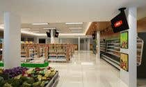 3D Rendering Inscrição do Concurso Nº41 para Looking for a Supermarket Design/Layout/3D model with a space of 1,499sqm