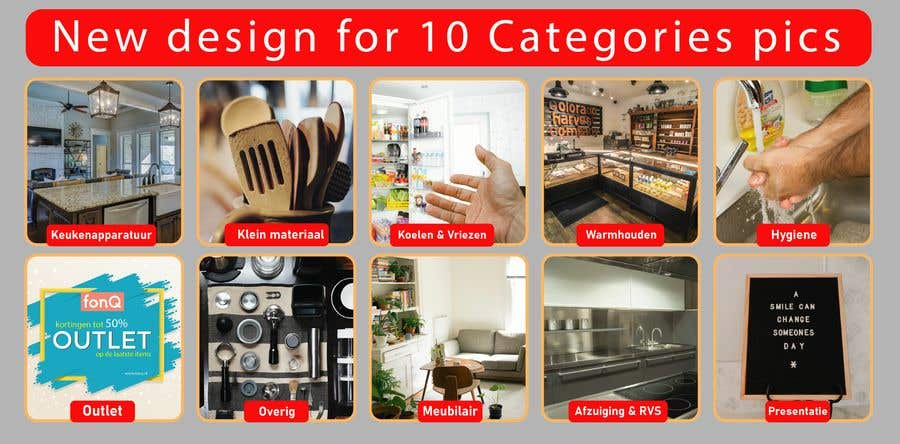 Конкурсная заявка №                                        83                                      для                                         New design for 10 Categories pics
