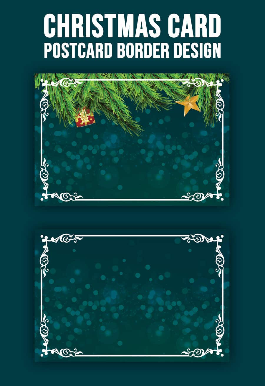 Contest Entry #                                        54                                      for                                         Christmas Card Postcard Border Design