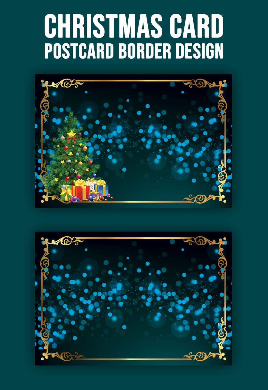 Contest Entry #                                        58                                      for                                         Christmas Card Postcard Border Design