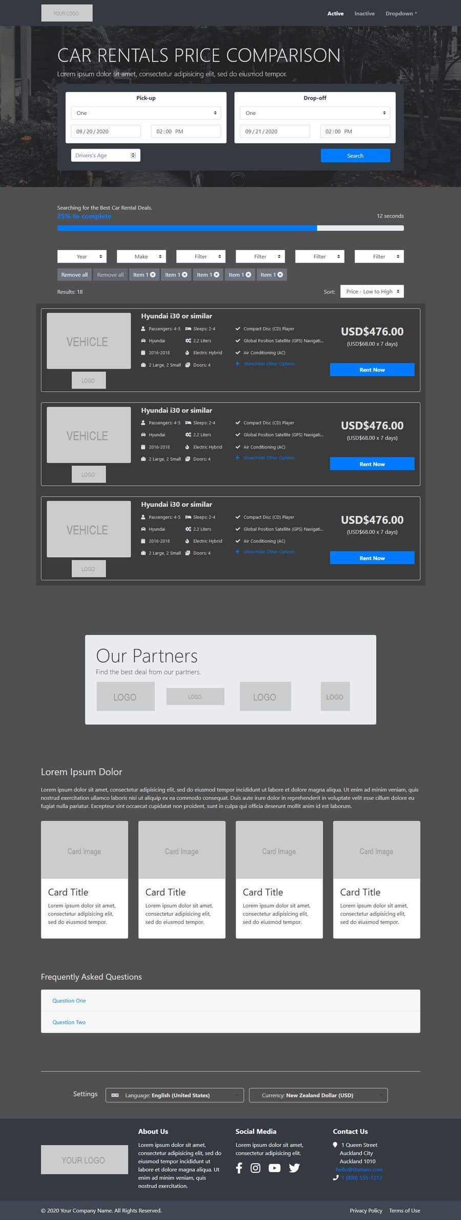 Bài tham dự cuộc thi #                                        24                                      cho                                         Front End Developer - 100% CSS Web Design
