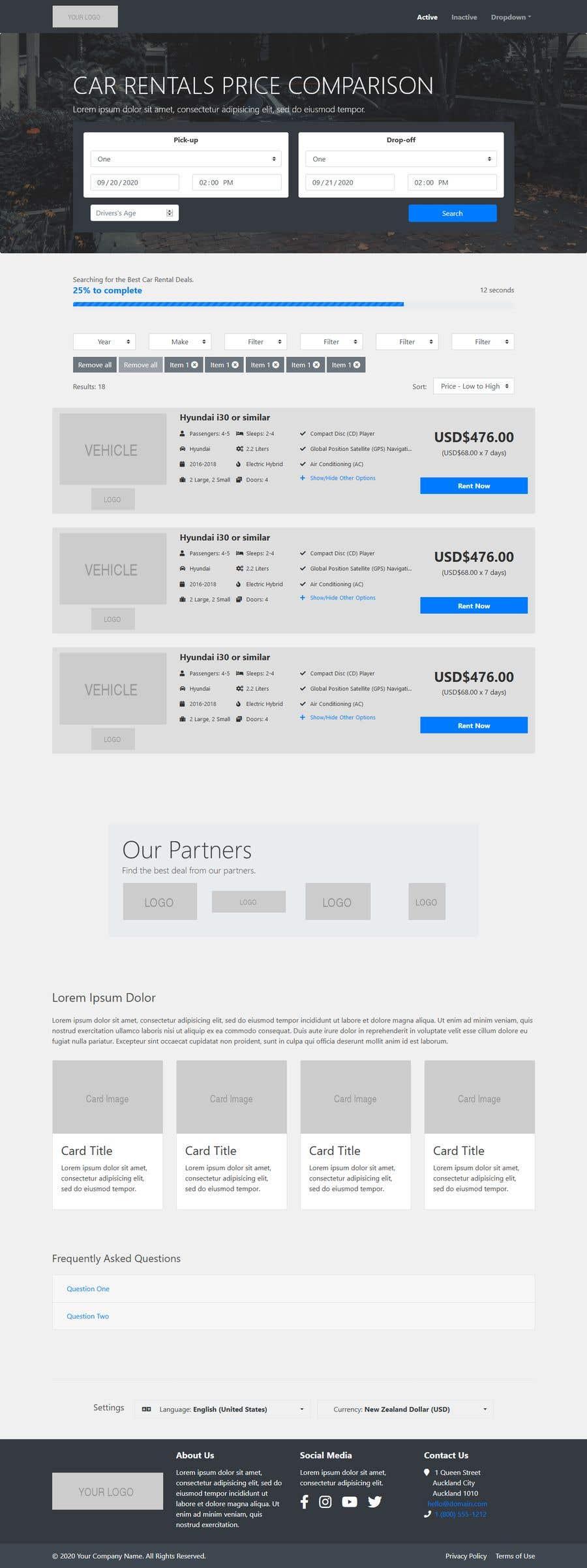 Bài tham dự cuộc thi #                                        36                                      cho                                         Front End Developer - 100% CSS Web Design