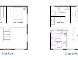 nº 60 pour Design a 2 floor house on 45sq meters plot with 2 floors par imranarch1998