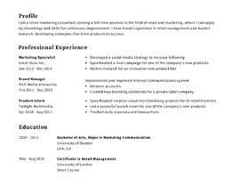 #22 cho I need 2 Academic CV format bởi faisal301