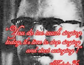 nº 8 pour Malcolm X words par Kiranchandrasaha