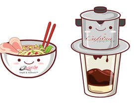 #6 для 2 QUICK ILLUSTRATIONS: Cartoon Vietnamese Iced Coffee & Vietnamese Pho Bowl от achmadyusli