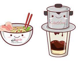 nº 6 pour 2 QUICK ILLUSTRATIONS: Cartoon Vietnamese Iced Coffee & Vietnamese Pho Bowl par achmadyusli