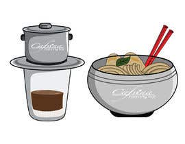 #13 для 2 QUICK ILLUSTRATIONS: Cartoon Vietnamese Iced Coffee & Vietnamese Pho Bowl от antor545