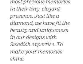 #2 cho Copyright writer - mission statement for a swiss diamond brand bởi elsaipek