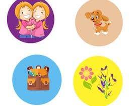 mshahanbd tarafından Round Sticker Creation!!! Unique kid friendly round stickers needed! Theme of stickers included için no 21