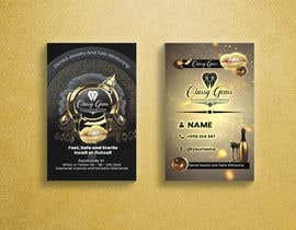 #25 untuk Finish the business card for classy gems, Edit templates included. oleh reekrabu0