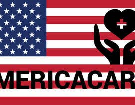 #9 for A simple logo with American Flag behind. Logo name: Americacare by Meerhaddi