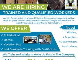 #42 for Need brouchere for hiring roofers by AkS0409