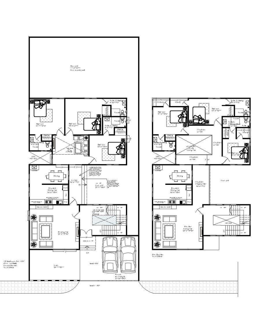 Proposition n°                                        61                                      du concours                                         Build me 2D Floor Plan for 2 Floor house!