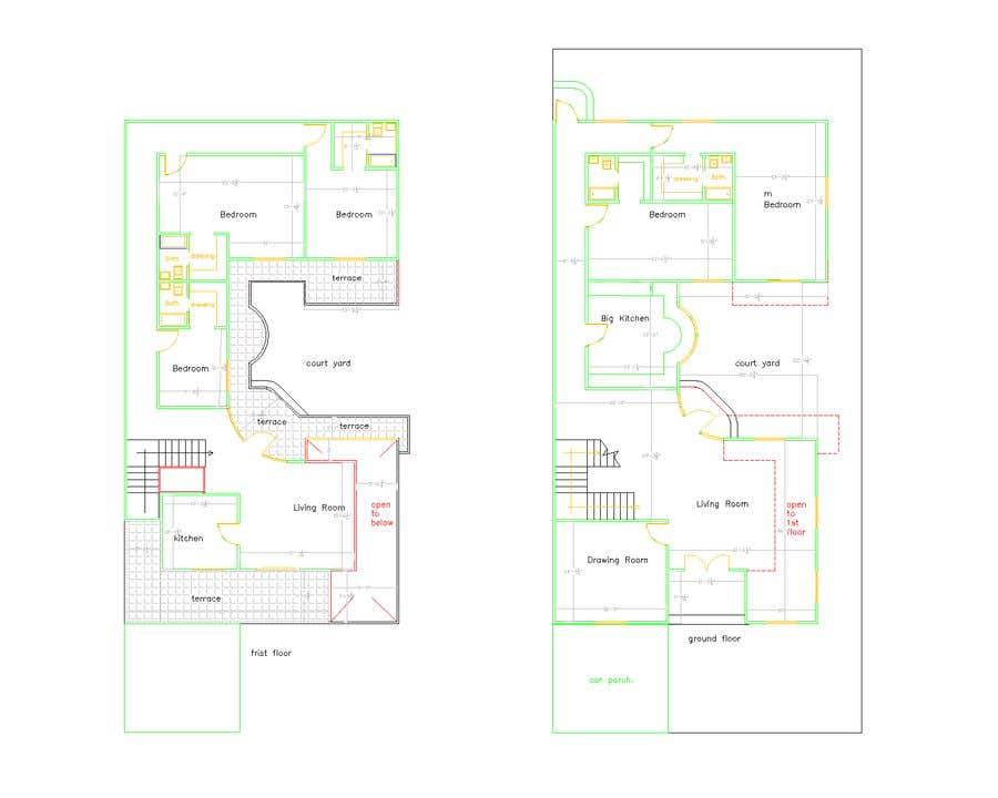Proposition n°                                        10                                      du concours                                         Build me 2D Floor Plan for 2 Floor house!